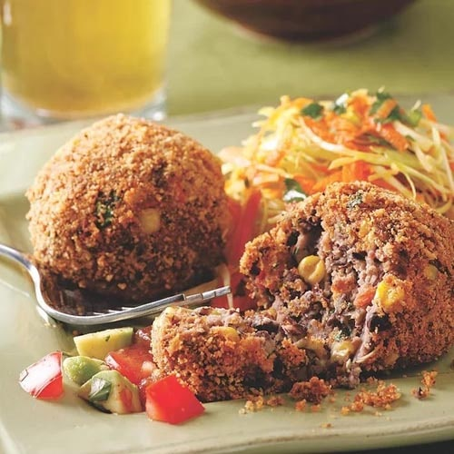 Meatless meal recipes: Black Bean Croquettes