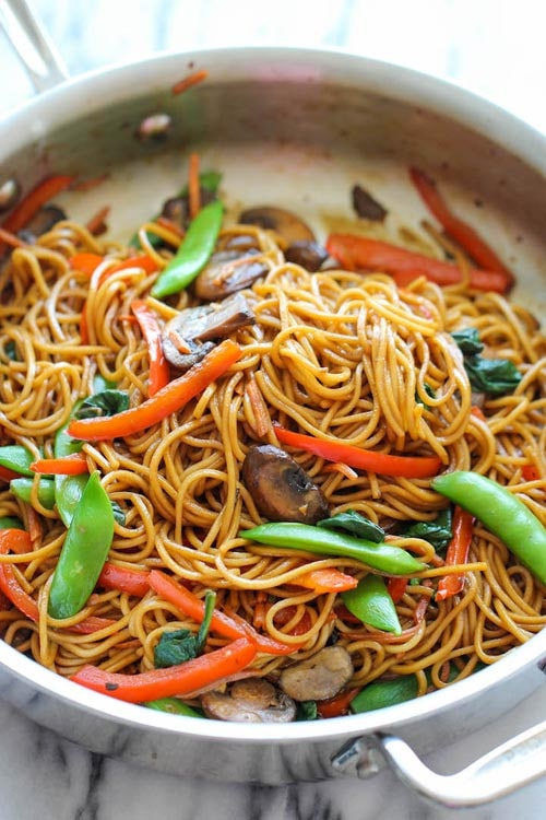 Meatless meal recipes: Easy Lo Mein