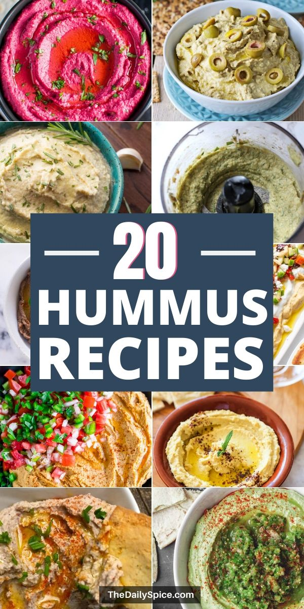 20 Homemade hummus recipes