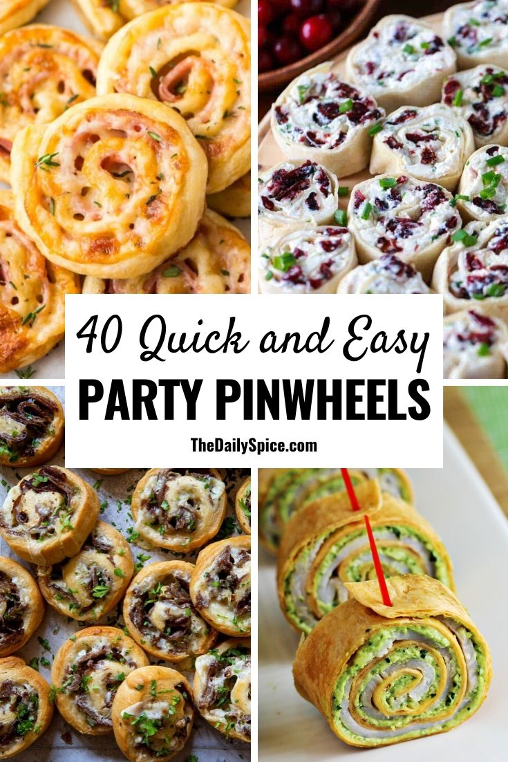 40 Party pinwheels and roll-ups
