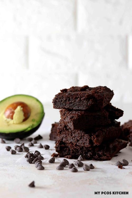 Sugar Free Low Carb Keto Avocado Brownies