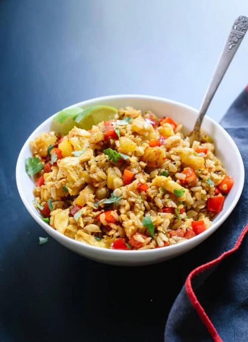 Meatless meal recipes: Thai Pineapple Fried Rice