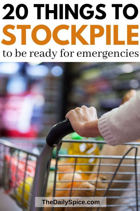 20 Things to stockpile for your emergency food supply