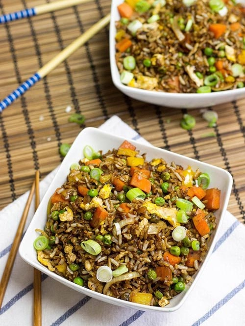 Meatless meal recipes: Vegetarian Fried Rice