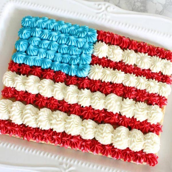 4th Of July Desserts: American Flag Cookie Cake