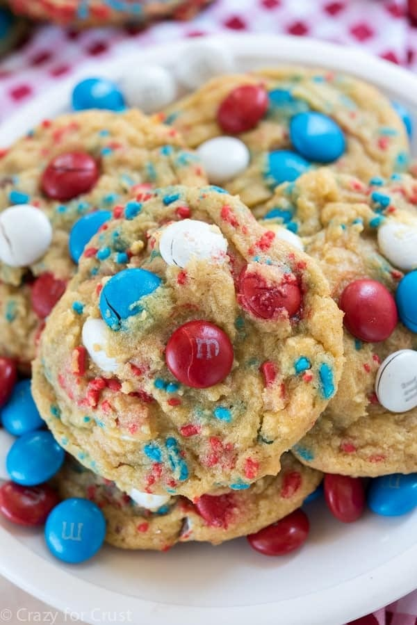 4th Of July Desserts: Fireworks Pudding Cookies
