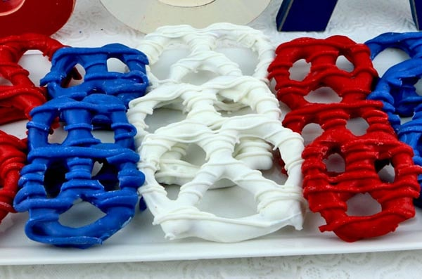 4th Of July Desserts: Patriotic Pretzels