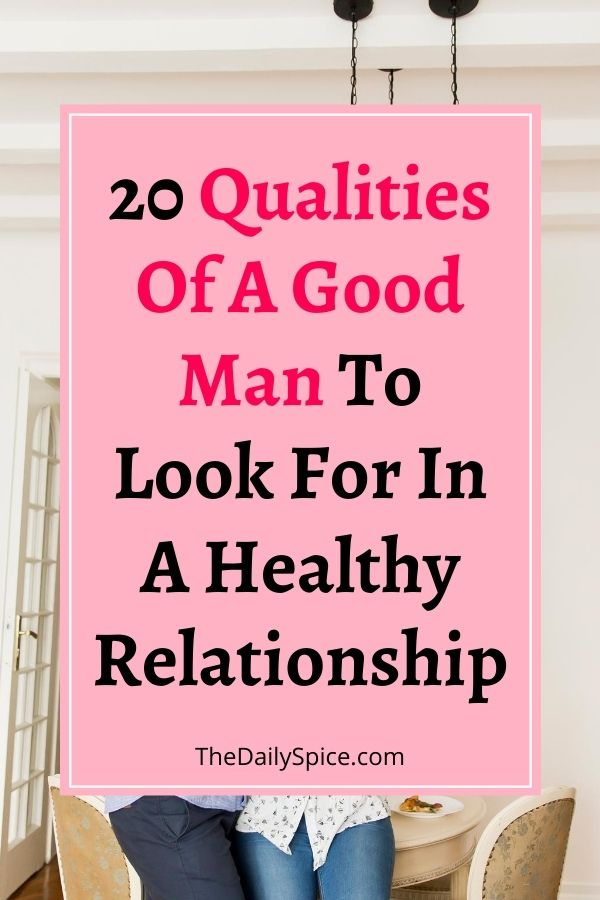 Qualities Of A Good Man