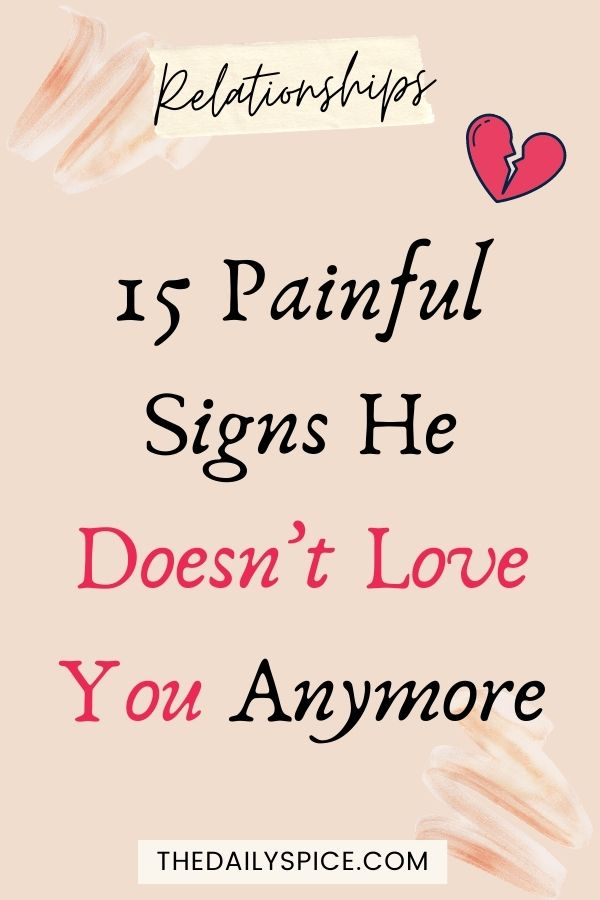 Signs He Doesn't Love You Anymore