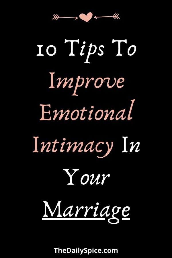 Improve Intimacy In Your Relationship