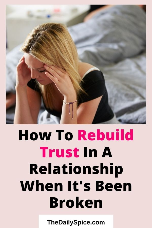 Rebuild Trust In A Relationship
