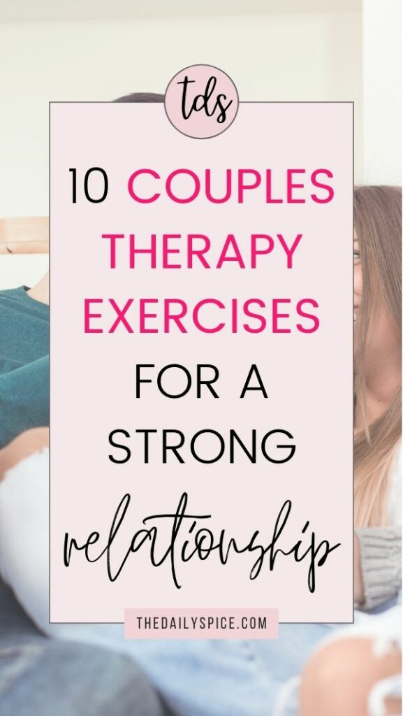 Couples Therapy Exercises And Activities